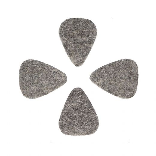 Felt Tones Mini Grey Wool Felt 4 Guitar Picks